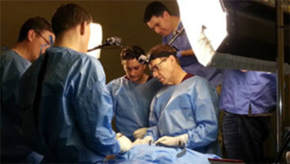 Dr. Mark in surgery