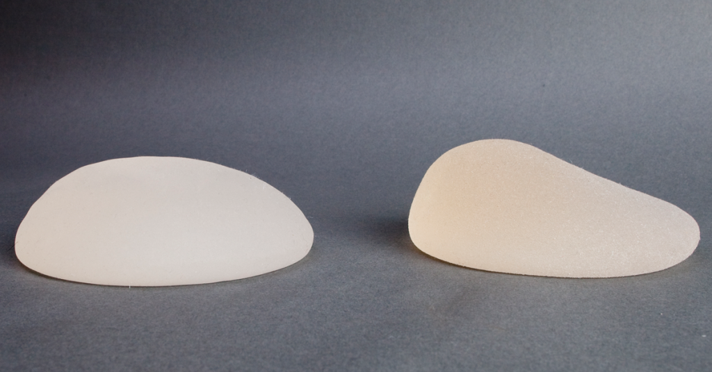 Photo of textured breast implants